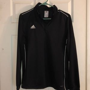 Quarter zip, Black adidas jacket